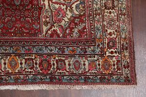 Collectible-Geometric-Bidjar-Antique-Hand-Knotted-Oriental-Area-Rug-7x11-RUST