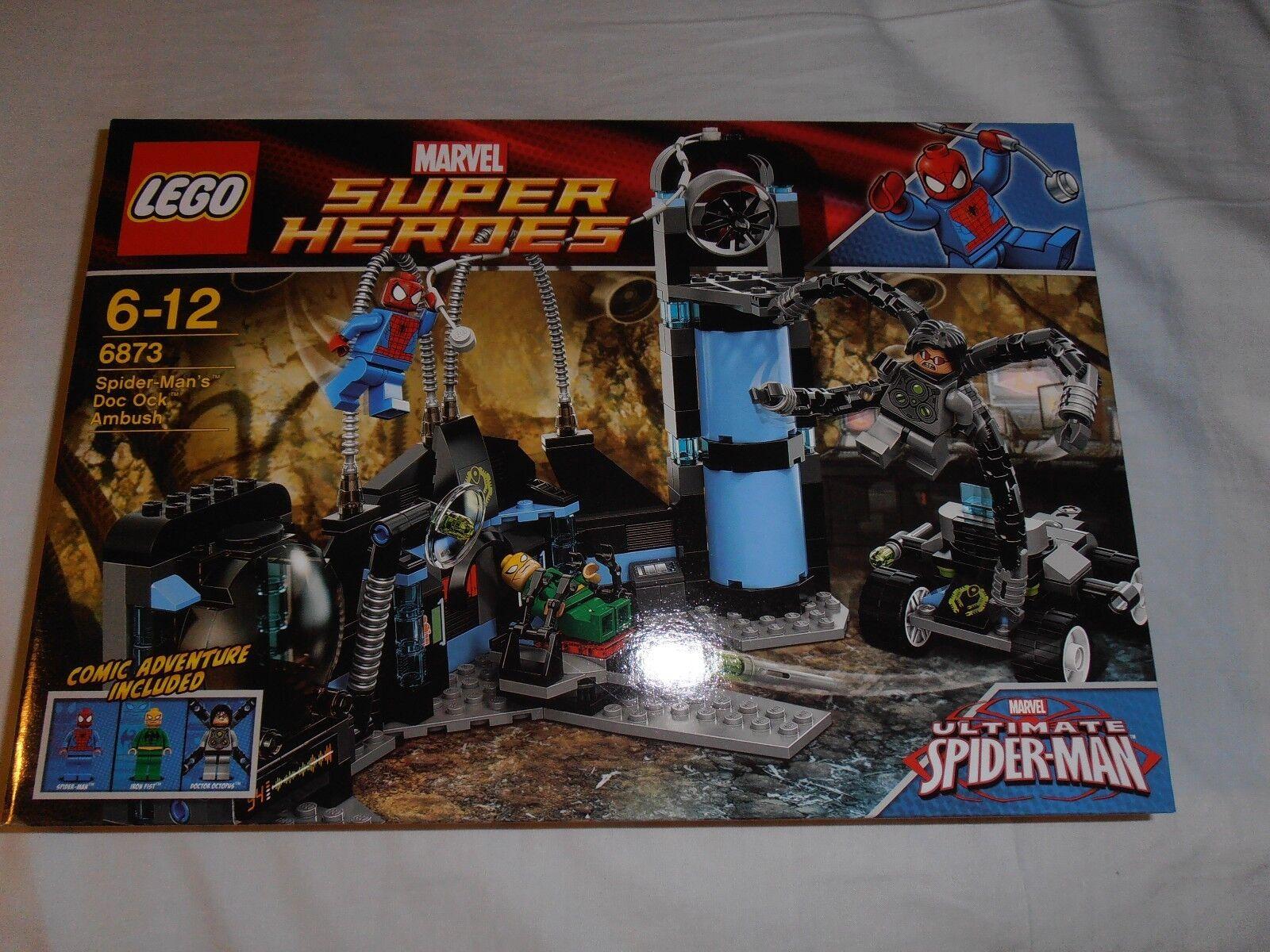 LEGO MARVEL SUPER HEROES Spider Man DOC OCCA Ambush 6873 NUOVO in pensione