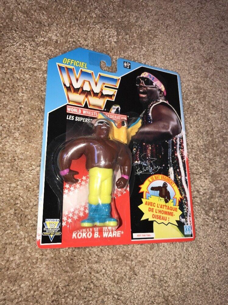 1991 TITAN WWF HASBRO WRESTLING FIGURE KOKO B. WARE ON blueE CARD FOREIGN CARD