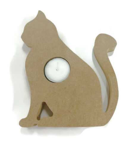 18mm Thick Cat Dog Heart Unicorn Various Shapes Wooden MDF Candle Holder