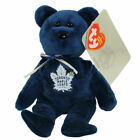 2018 NHL Ty Beanie Baby Hockey Bear Toronto Maple Leafs 8 Inch in Hand
