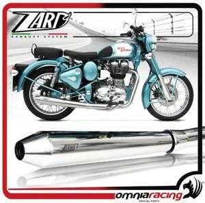 Details About Zard Steel Racing Royal Enfield Bullet 350 500 Slip On Conic Exhaust System