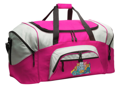 Crazy Cats Duffle Ladies Travel Bag LOADED W// POCKETS Sport Duffel WELL MADE