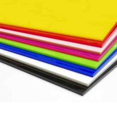 Colour Perspex Acrylic Sheet Plastic Material Panel Cut to Size A5, A4, A3