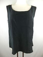 Patrizia Pepe Top / Shirt / Bluse schwarz 44 neu m. Etikett Seide kleiner Fehler