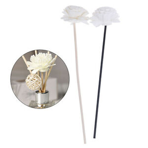 1XFlower-Rattan-Reeds-Fragrance-Diffuser-Non-fire-Replacement-Refill-Sticks-H-F