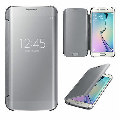 Luxury Mirror Flip Smart Case Cover For Samsung Galaxy S6 /S6 Edge Plus / Note 5
