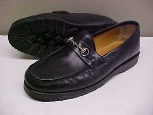 CARRI Womens Size 7 1/2 M Black Leather Loafer Shoe