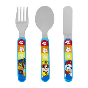 Paw Patrol Rescue 3 Teile Metall Besteckset Kinder Dinner Gabel Löffel