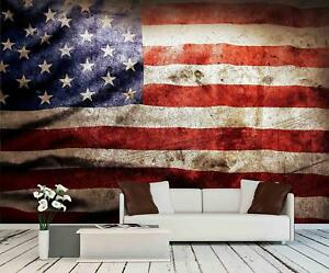 Details About Wall26 Closeup Of Grunge American Flag Wall Mural Home Decor 66x96 Inches