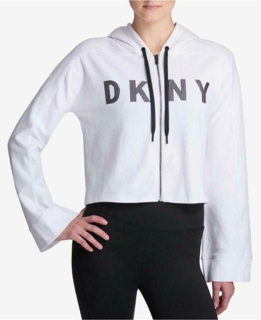 DKNY Womens Sweat shirt Cropped Sweatshirt Big Logo