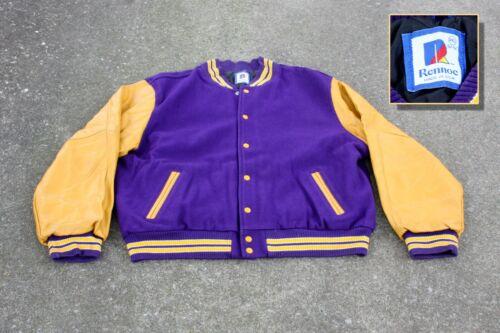 Vintage Letterman Jacket Athletic Sports Purple/Go