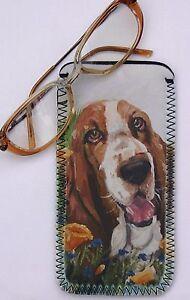 BASSET-HOUND-DOG-NEOPRENE-GLASS-CASE-POUCH-DESIGN-PRINT-SANDRA-COEN-ARTIST