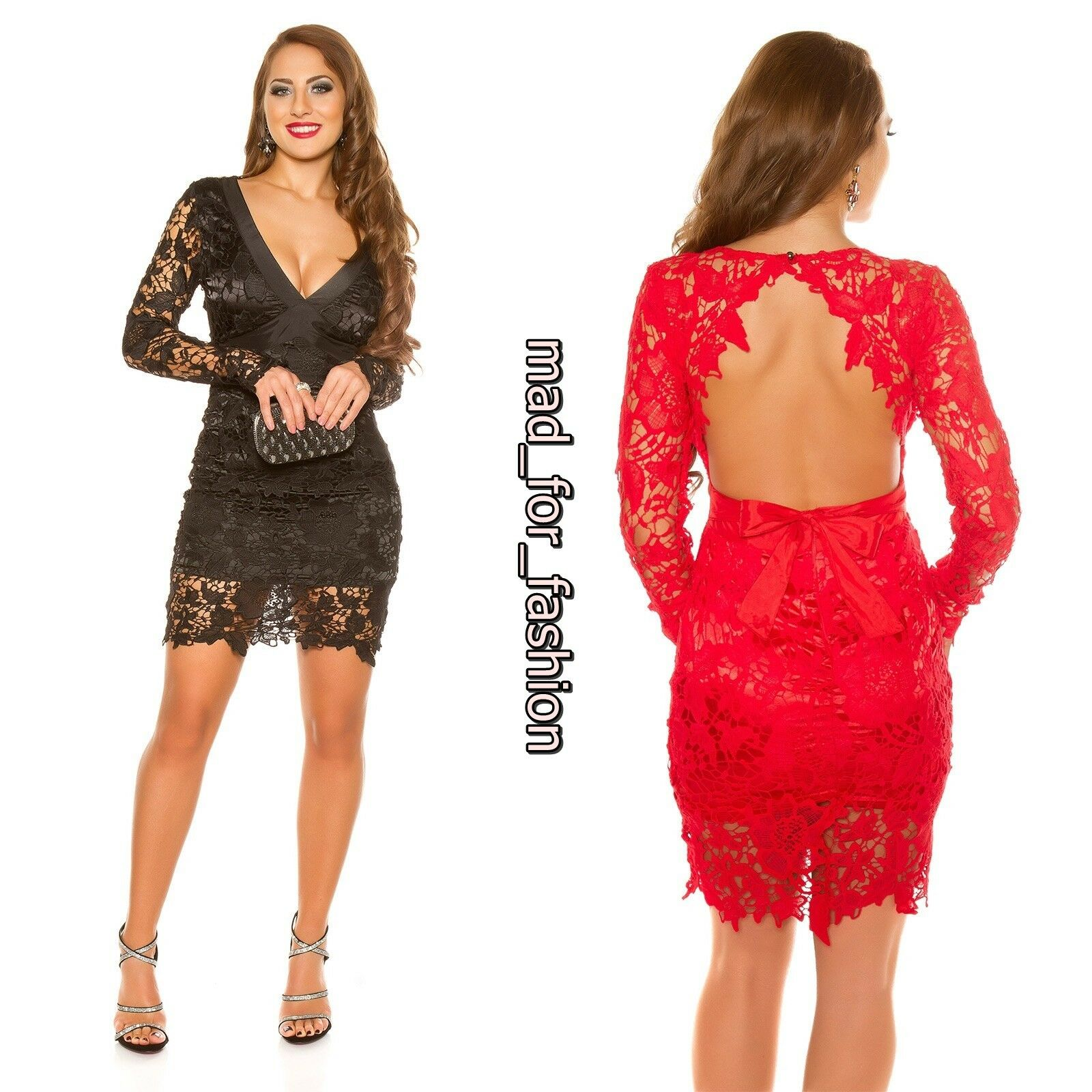 Sexy Koucla long sleeved party dress with all in crochet. S.M.L.