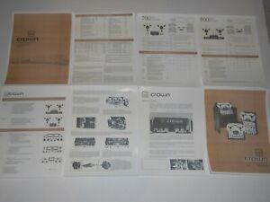 Crown-SX700-CX800-Reel-to-Reel-Brochure-8pgs-SX722-SX724-CX-722-SX-822-CX824