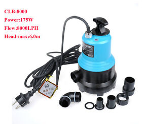 Hsh-flo 4500l-8000lph Gph Submersible Koi Pond Waterfull Garden Fountain Pump Good For Antipyretic And Throat Soother Pumps (water) Fish & Aquariums