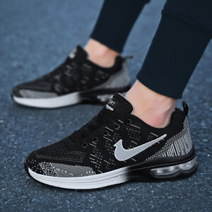 Men-039-s-Jogging-Shoes-Athletic-Air-Cushion-Flyknit-Sports-Outdoor-Running-Sneakers