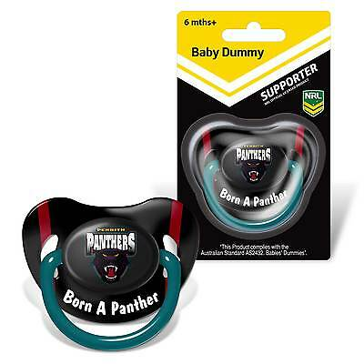 Penrith Panthers NRL Infant Baby Dummy Pacifier Baby Gift