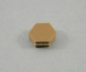 Image Is Loading 108 HEXAGON PORON BUMPERS FOR CABINET DOORS BUTTERSCOTCH
