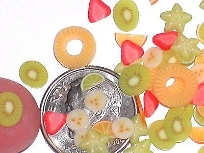 12pc Casa Delle Bambole Tiny Lotto Kiwi Fragola Ananas Mix Frutta Fetta Cibo
