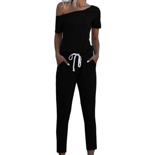 Women/'s Sweatshirt Tracksuit Set Gym Fitness Jogger Plain Loungewear Lounge Wear