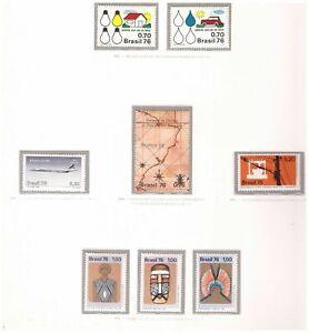 S18956) Brasilien Brazil 1976 MNH Neu All Complete Sets 62v