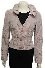 Giorgio Armani Women Metallic Pink Salmon Short Fashion Coat Jacket Leaves 10 US