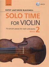 Solo tiempo para violín 2 Música Libro & Play-Junto CD Kathy & David Blackwell violín