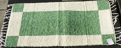 """Möbel & Wohnen Gelernt Teppich Badteppich Gewebt """"vierecke"""" Natur/grün 135 X 65 Cm Teppich Waschbar Badzubehör & -textilien"""