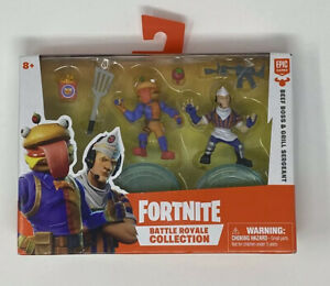 FORTNITE BATTLE ROYALE COLLECTION *Beef Boss Grill Sergeant* FIGURE 2 PACK 2019