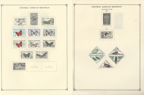 Central Africa Collection 195971 on 25 Scott International & Minkus Pages