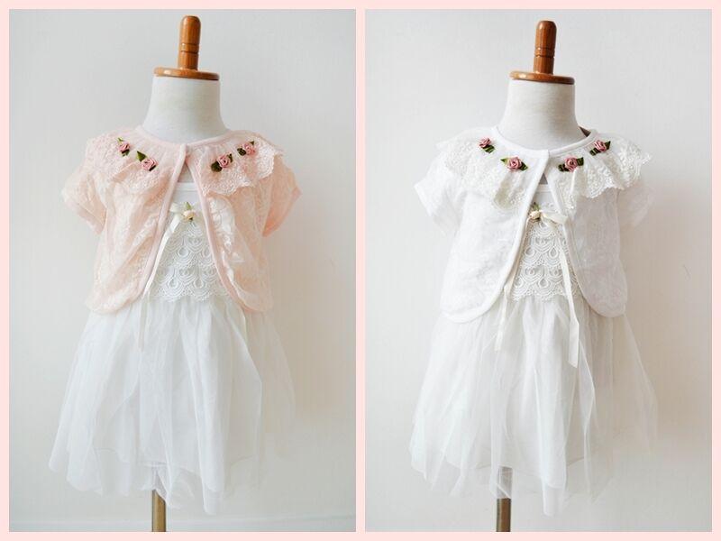 Baby Girl Toddler Vintage Formal Frilly Lace Dress Christening Wedding Birthday