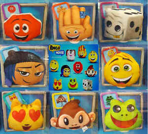 McDonalds-Happy-Meal-Toy-2017-UK-Emoji-Movie-Bag-Hangers-Soft-Toys-Various