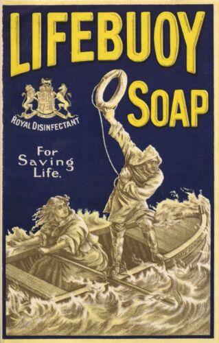 Poster Lifebuoy Soap Vintage Advertising Art Print