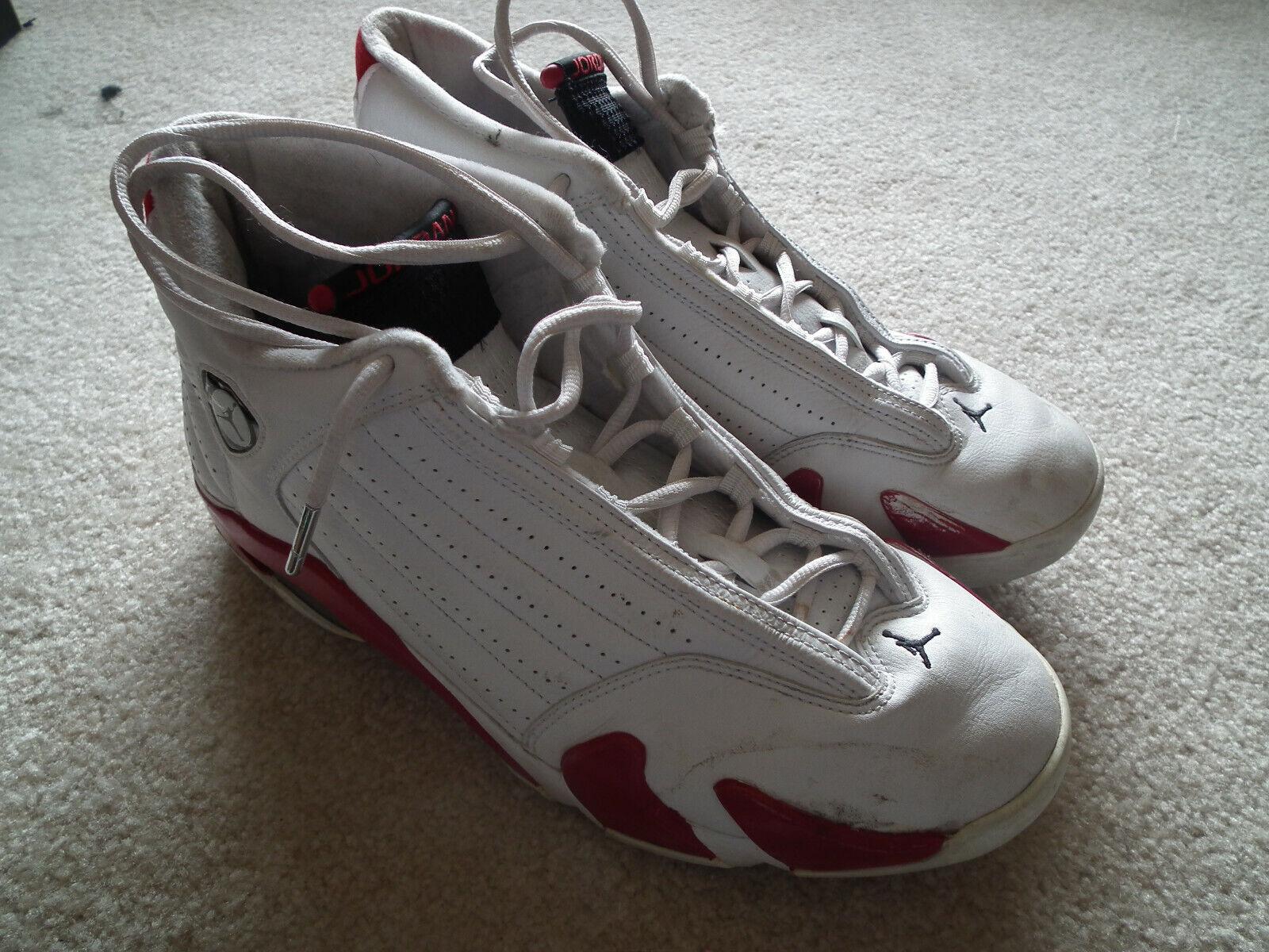 Nike Air Jordan 14 XIV 2006 White, Black, Var Red 311832-101 Size 11 Authentic