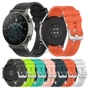 For Huawei Watch GT 2 Pro/GT 2 2e 46mm Sports Silicone Wrist Band Strap Bracelet