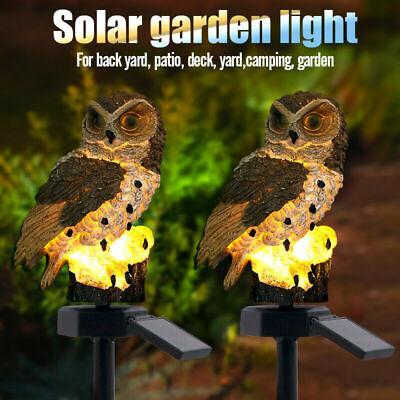 Solar Eule LED Solarleuchte Eulen Gartenbeleuchtung Solarlampe Solarlicht NEU