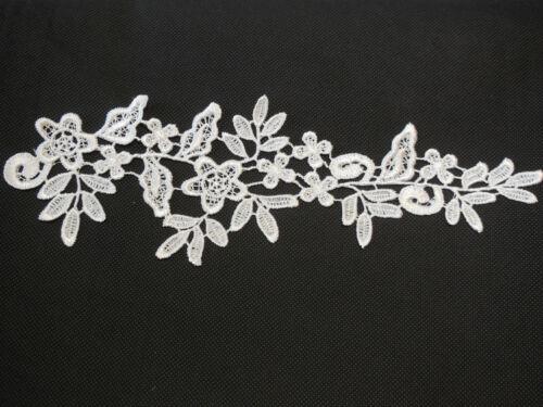 Blanc de mariée floral dentelle applique//mariage motif de dentelle pour la vente vendu par pièce
