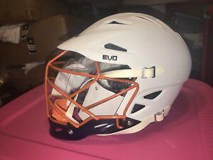 NWT-Warrior-Custom-Evo-Tier-2-Matte-White-Lacrosse-Helmet-L-XL