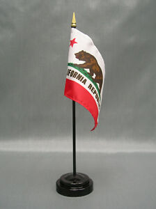 "With Black Plastic Stand State of Oklahoma Mini 4/""x6/"" Desk Stick Flag"