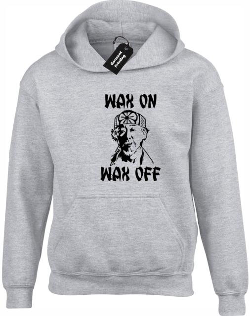 KARATE KID WAX ON WAX OFF KIDS /& ADULTS HOODIE