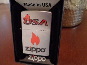 Image Is Loading ZIPPO HEART LOVE THE USA FLAME SATIN
