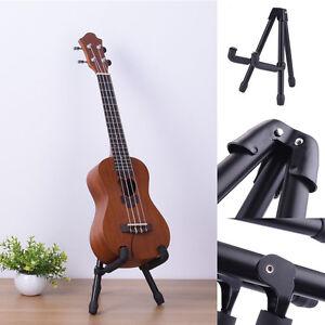 Folding-Electric-Acoustic-Guitar-Violin-Ukulele-Stand-A-Frame-Floor-Rack-Holder