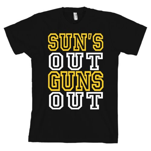 Suns Out Guns Out Black Bella+Canvas T Shirt Lifting Gym Tee QUALITY /& SOFT