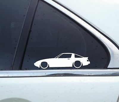 13b GSL for Mazda RX7 SA 1st gen 12AClassic 2x Lowered car stickers