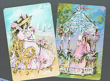 Playing Swap Cards 2  VINT PRETTY LADIES ALL DRESSED UP  FOR GARDEN PARTY #53