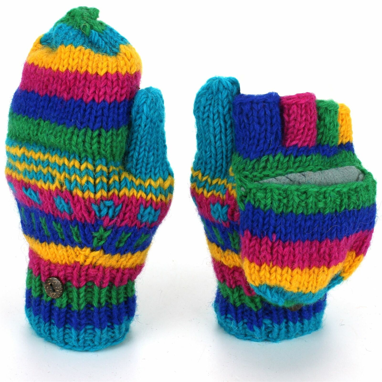 Wool Knit Shooter Gloves Ministry of Colour Mittens lined thumb shooting knitted