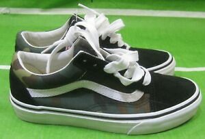 b89898628a7344 Image is loading Vans-Old-Skool-Black-Woodland-Camo-VN0A38G1NRA-SIZE-
