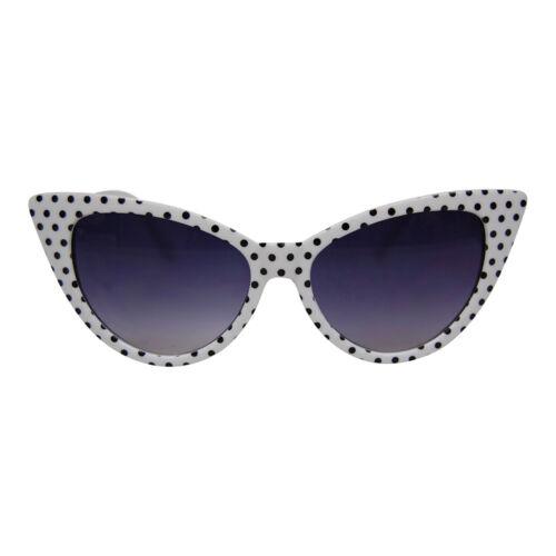 Retro Gepunktet Katzenaugen Sonnenbrille 50er Jahre//60er Jahre Party UK Lager