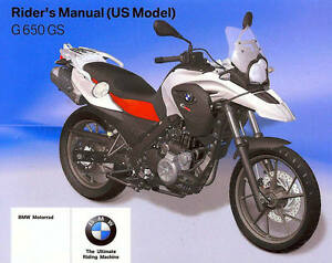 2011 Bmw G650gs Motorcycle Owners Riders Manual Bmw G 650 Gs Bmw G650 Gs Bmw Ebay